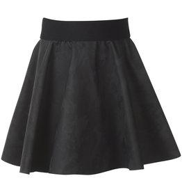 BLACK BUNNIES Black Bunnies Faux Leather Camouflage Rokje Zwart
