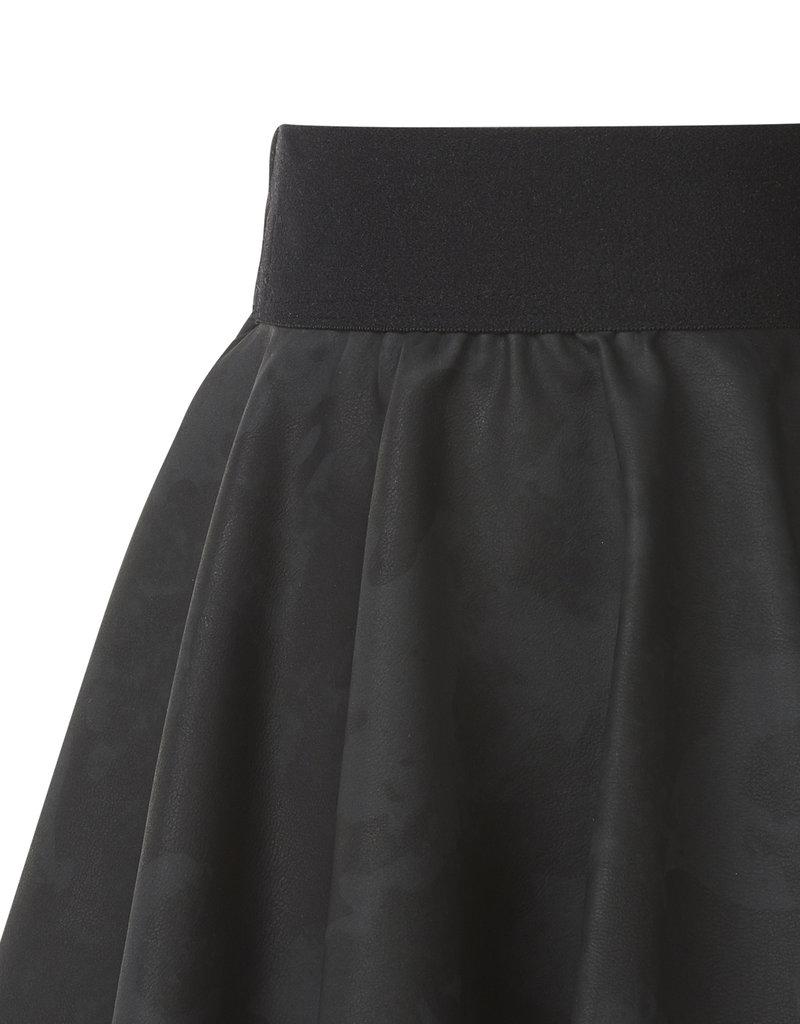 BLACK BUNNIES Faux Leather Camouflage Rokje Zwart
