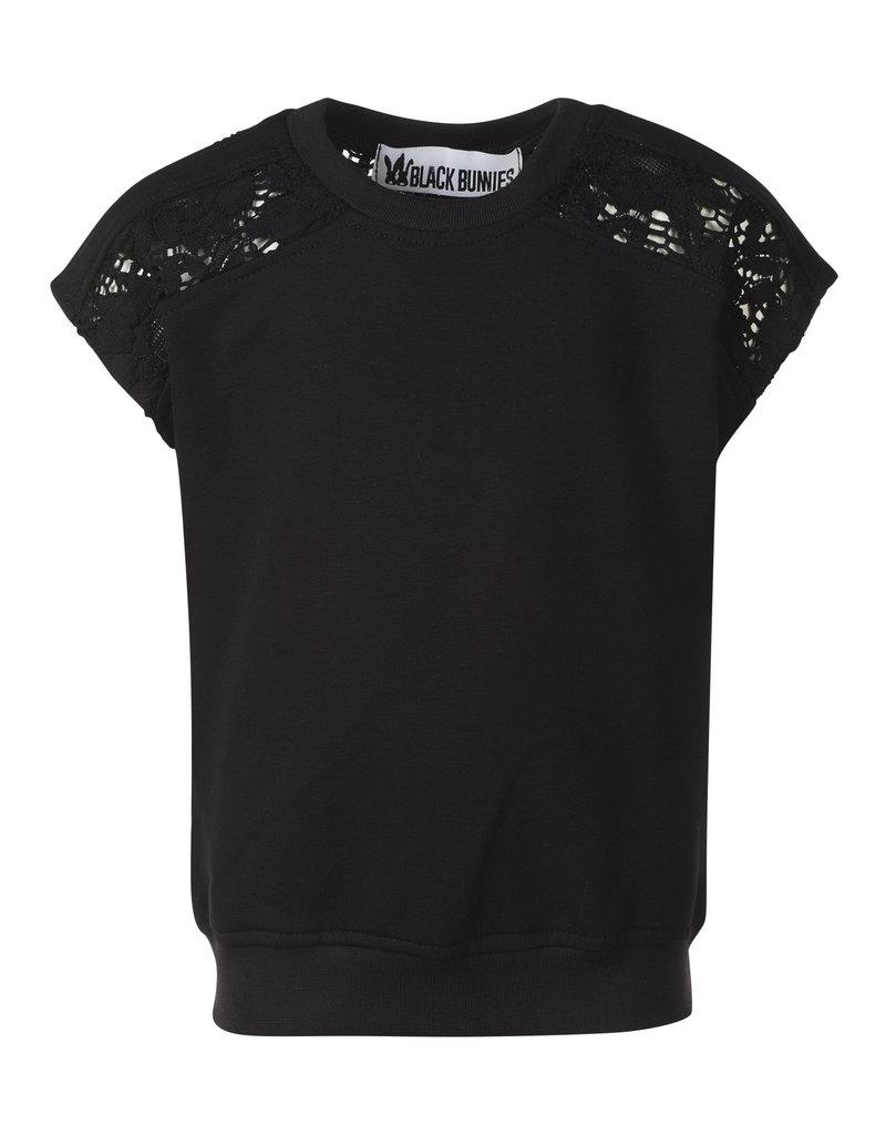 BLACK BUNNIES Shirt Kate Lace zwart