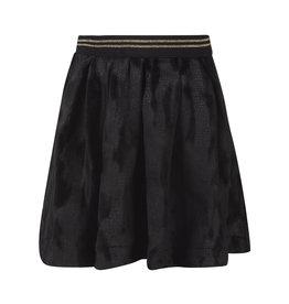 TOO MANY BUNNIES Plooienrokje Velvet Zwart met textuur