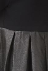 BLACK BUNNIES Jurk Blondie Faux Leather zwart