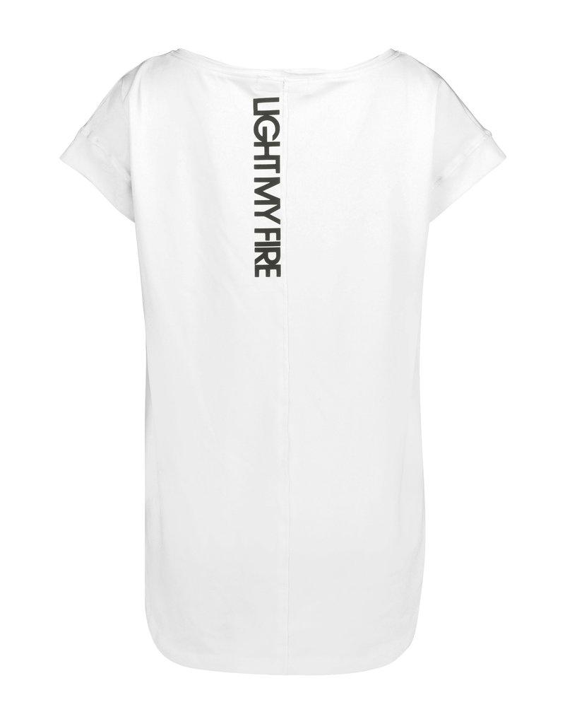 BLACK BUNNIES Shirt Jolene Wit Fire Zwart