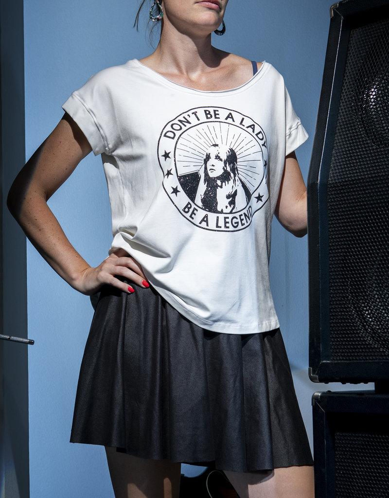 BLACK BUNNIES Shirt Jolene Wit Kisses Zwart Glitter