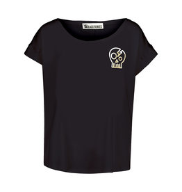 BLACK BUNNIES Shirt Jolene Zwart Skull Gold