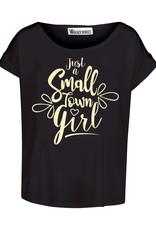 BLACK BUNNIES Shirt Jolene Zwart Small Town Gold