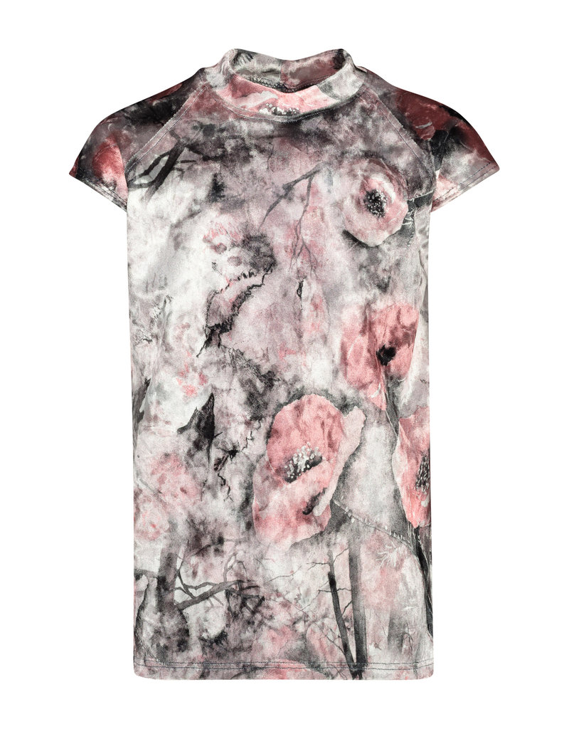 BLACK BUNNIES Shirt Axl Flowers Velvet