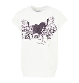 BLACK BUNNIES Shirt Dolores wit Rock Of Love Zwart