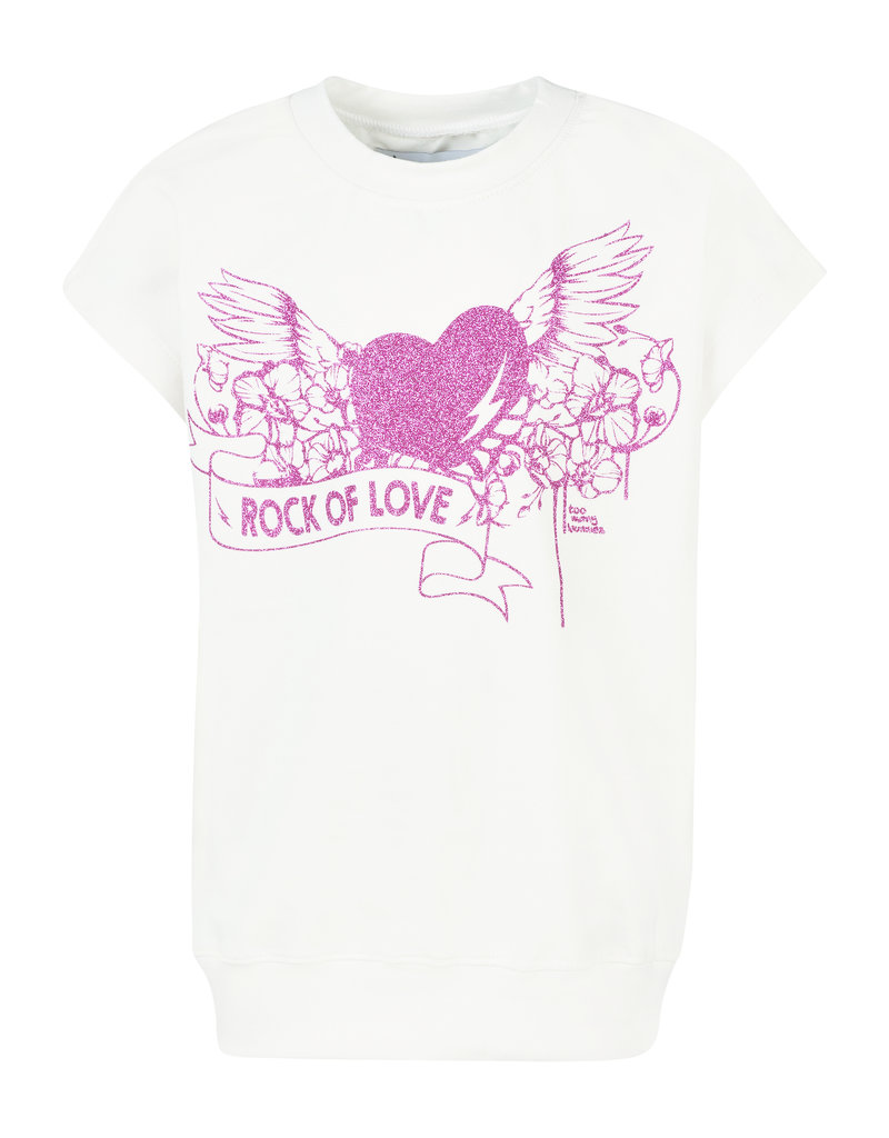 BLACK BUNNIES Shirt Dolores wit Rock Of Love Pink