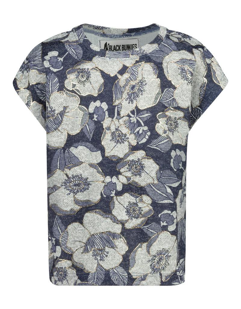 BLACK BUNNIES Shirt Dolores Sans Flowers Gold