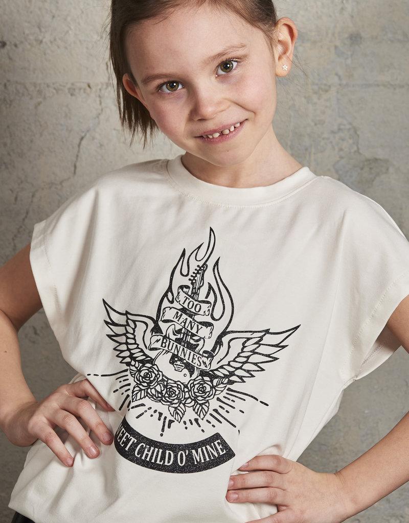BLACK BUNNIES Shirt Dolores Wit Sweet Child Glitter