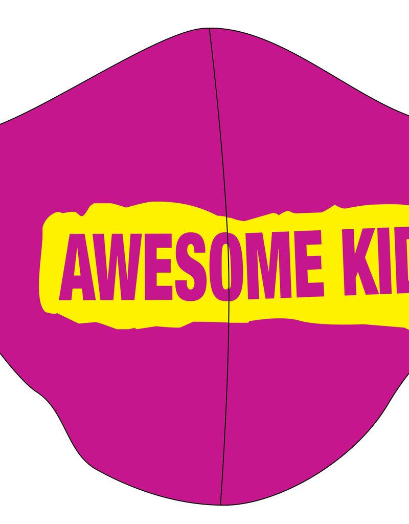 TOO MANY BUNNIES Mondmasker Awesome Kid Pink