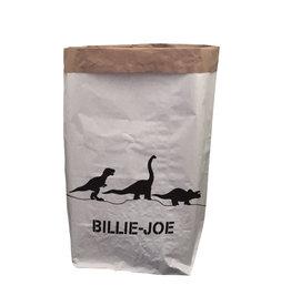 TOO MANY BUNNIES Paperbag XXL Dino Met Voornaam