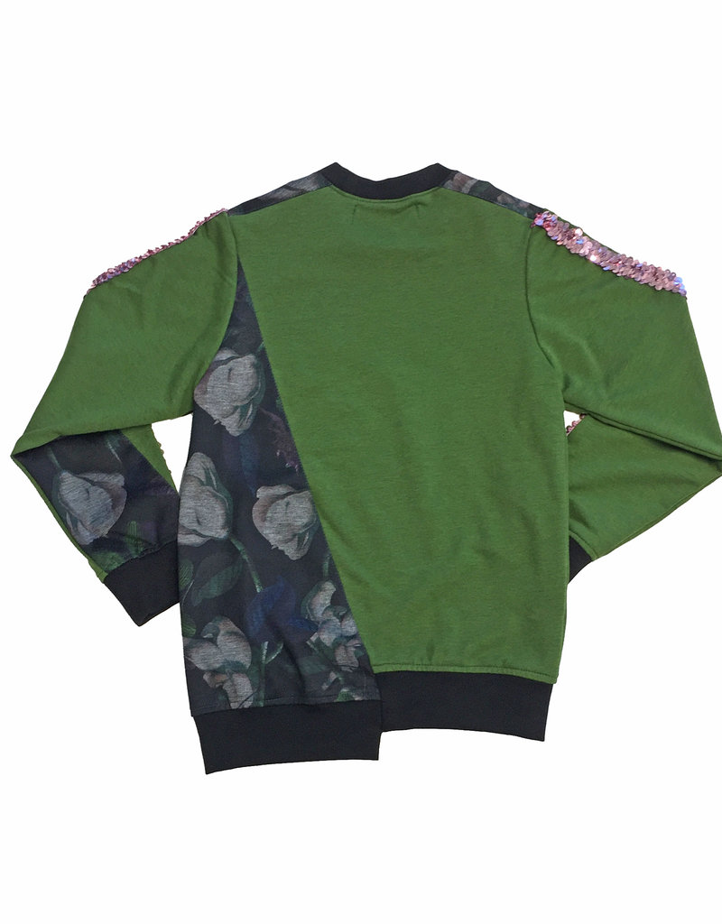 BLACK BUNNIES Sweater Mick Dark Flowers