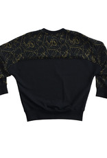 BLACK BUNNIES Sweater Jagger Split Black Gold