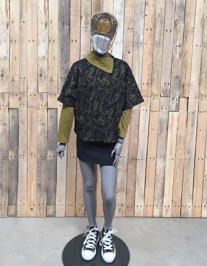 BLACK BUNNIES Shirt Jack Turtle Neck Ocher