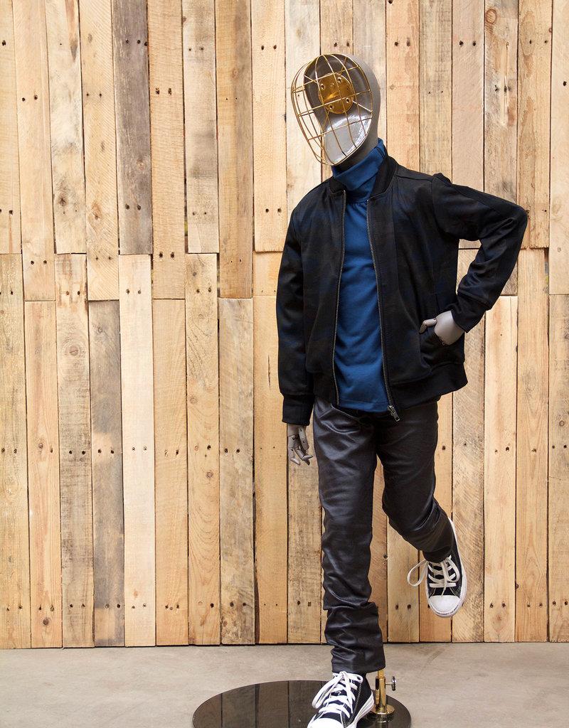 BLACK BUNNIES Shirt Jack Turtle Neck Blue