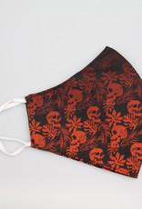 TOO MANY BUNNIES Mondmasker Skate 'n Skulls Red