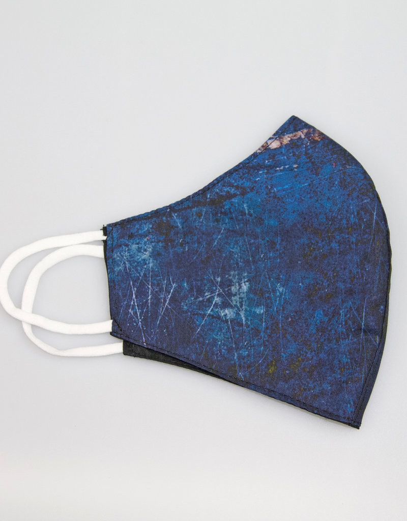 TOO MANY BUNNIES Mondmasker Dark Blue Abstract