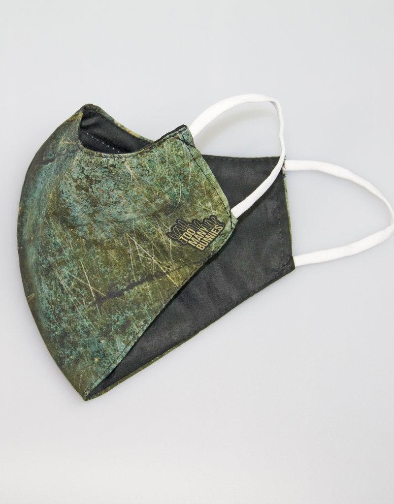 TOO MANY BUNNIES Mondmasker Dark Green Abstract
