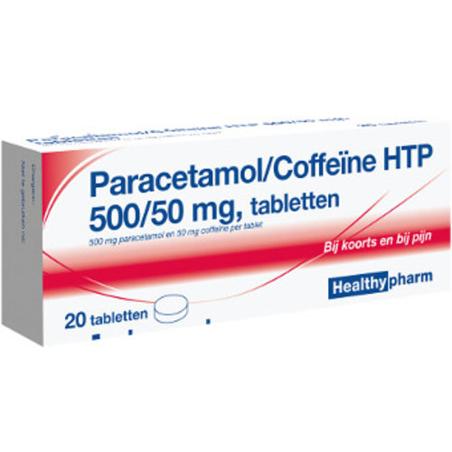 Healthypharm Healthypharm Paracetamol Met Coffeine 500/ 50 Mg - 20 Tabletten