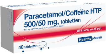 Image of Healthypharm Healthypharm Paracetamol Coffeine 500/50 Mg - 40 Tabletten