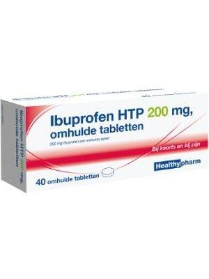 Healthypharm Ibuprofen 200 Mg Suikervrij - 40 Tabletten