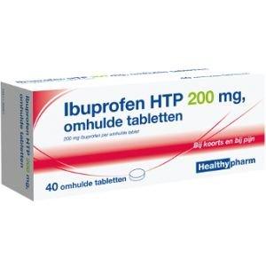 Image of Healthypharm Ibuprofen 200 Mg Suikervrij - 40 Tabletten
