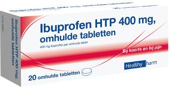 Image of Healthypharm Ibuprofen 400mg Suikervrij - 20 Tabletten