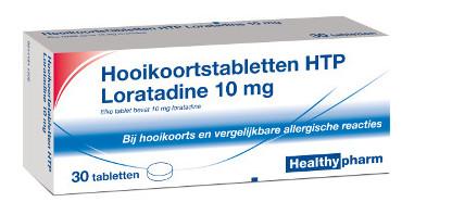 Image of Healthypharm Healthypharm Hooikoorts Loratadine - 30 Tabletten