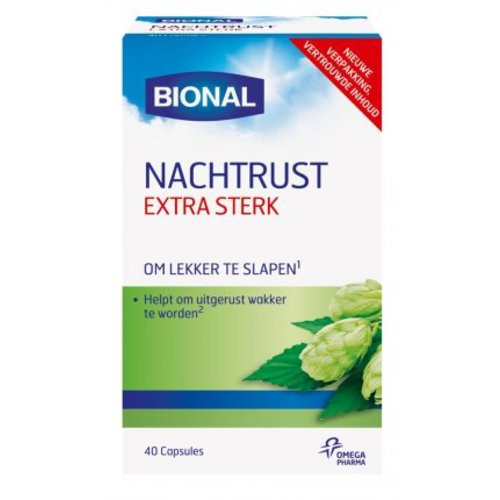 Bional Bional Nachtrust Extra Sterk Melatonine - 40 Capsules