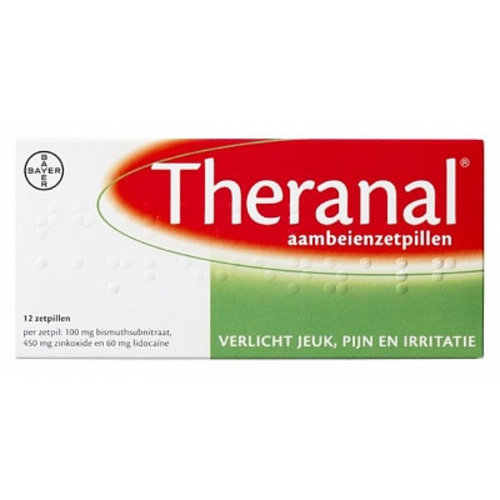 Theranal Theranal Suppositoria - 12 Sup