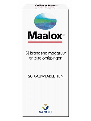 Maalox Maalox Kauwtabletten - 20 Tabletten
