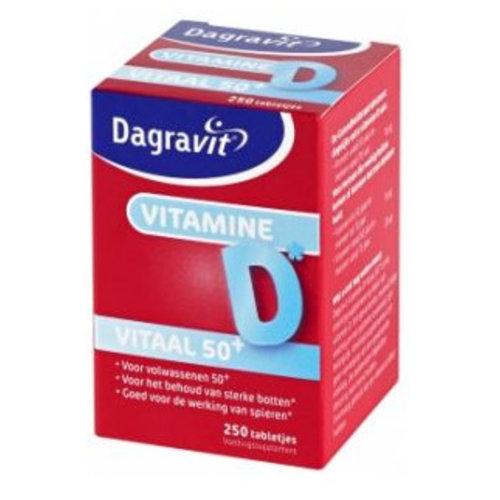 Dagravit Dagravit Vitaal 50+ +Vit D Pot - 250 Stuks