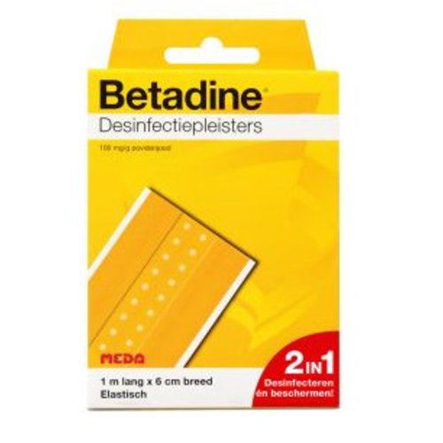Betadine Betadine Desinfectiepleister - 1mx6 Cm