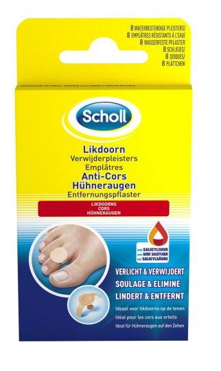 Image of SCHOLL Scholl Likdoorn Verwijderpleister - 8 Stuks