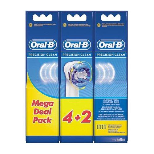 Oral B Oral B Opzetborstels Precision Clean - 4+2 Stuks
