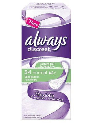Always Always Inlegkruisjes Discreet Normal - 34 Stuks