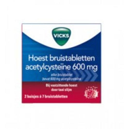 Vicks Vicks Hoest Bruistabletten Acetylcysteine - 14 Tabletten