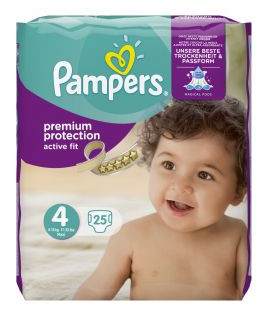 Image of Pampers Pampers Active Fit Maxi Midpack 4 7 - 18 Kg - 25 Stuks