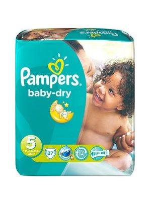 Pampers Pampers Baby Dry Junior Midpack 5 11-25 Kg- 27 Stuks