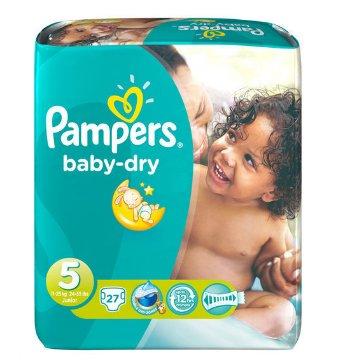 Image of Pampers Pampers Baby Dry Junior Midpack 5 11-25 Kg- 27 Stuks