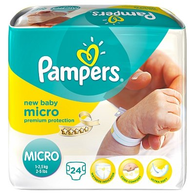 Image of Pampers Pampers New Baby Hospital Micr0 - 24 Stuks