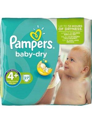 Pampers Pampers Baby Dry Maxi+ Midpack 4+ 8-15 Kg - 27 Stuks