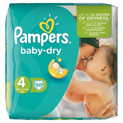 Image of Pampers Pampers Baby Dry Maxi Midpack 4 7-18 Kg - 30 Stuks