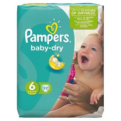 Image of Pampers Pampers Baby Dry Xl Midpack 6 15+ Kg - 22 Stuks