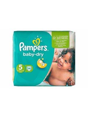 Pampers Pampers Baby Dry Junior Midpack 5 11-25 Kg -26 Stuks