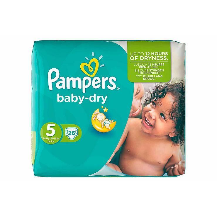 Image of Pampers Pampers Baby Dry Junior Midpack 5 11-25 Kg -26 Stuks