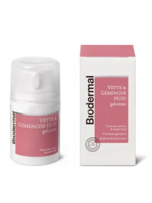 Biodermal Biodermal Gelcreme Vette + Gemengde Huid - 50 Ml