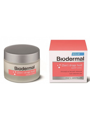 Biodermal Biodermal Nachtcreme Droge Huid - 50 Ml