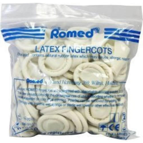 Romed Romed Vingercondooms Latex Xl - 100 Stuks